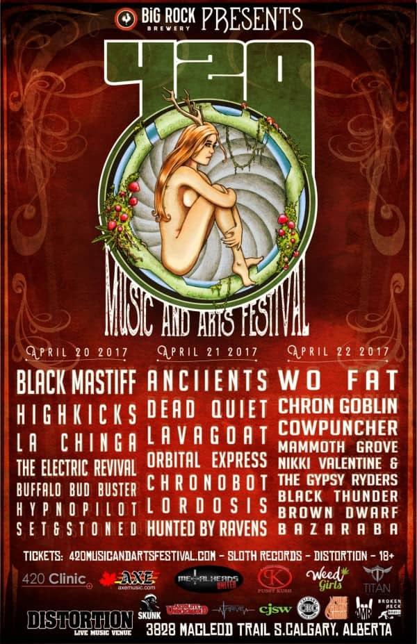 Calgary's 420 Music & Arts Festival Poster