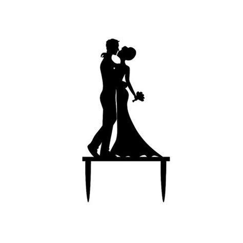 Cake topper con silhouette degli sposi: ecco dove trovarli!