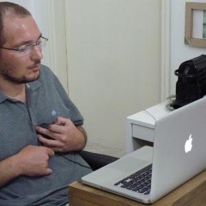O ortopedista Guilherme Freitas que sofreu um raro tipo de AVC (acidente vascular cerebral)