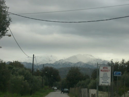 lots of snow in hania chania