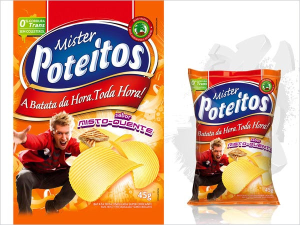 Mr Poteitos Potato Chips Packaging 4 30+ Crispy Potato Chips Packaging Design Ideas
