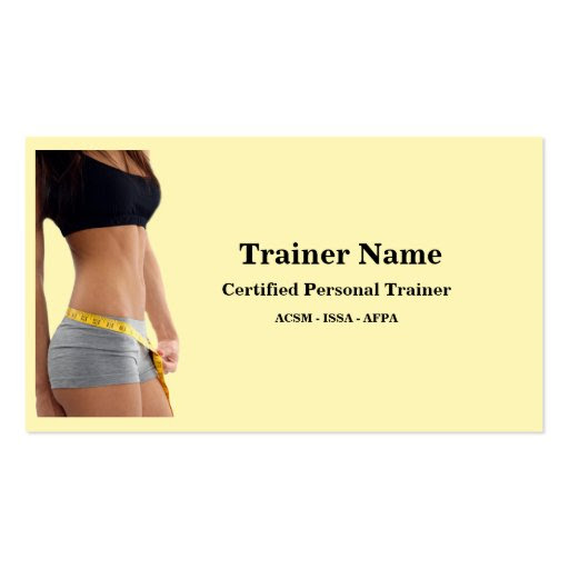 Personal Trainer Business Card   Zazzle