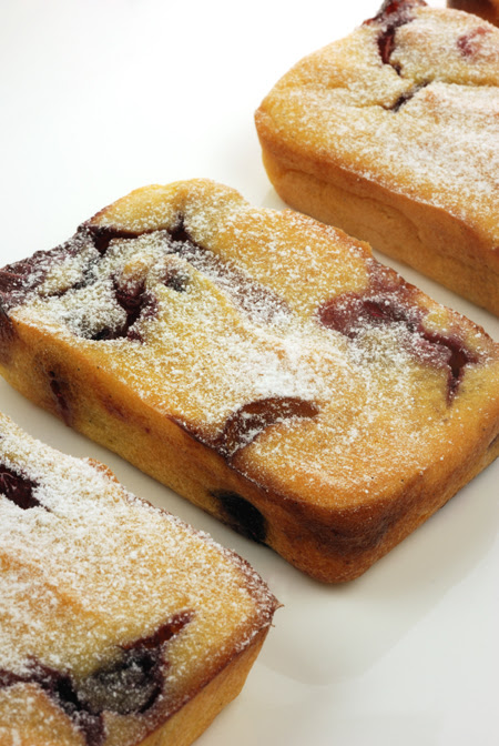 Blueberry Polenta Cakes© by Haalo