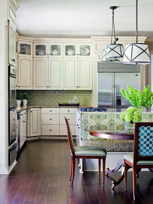 Glass Upper Cabinets Home Design Ideas, Renovations & Photos