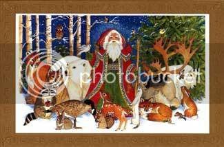 Woodland Santa & friends