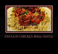 Spaghetti With Chicken-ball Sauce