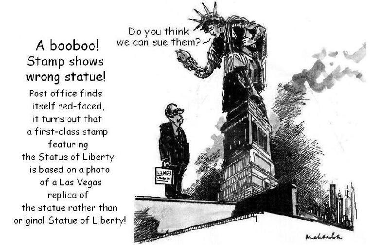 statue of liberty stamp. Cartoon: Statue Of Liberty