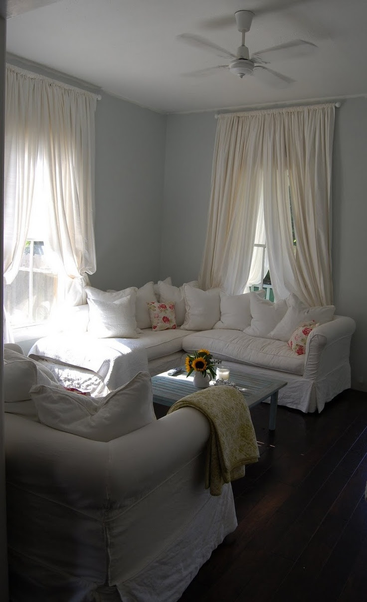 My friend Georgina's living room in St. Helena, California. Shabby Chic love!