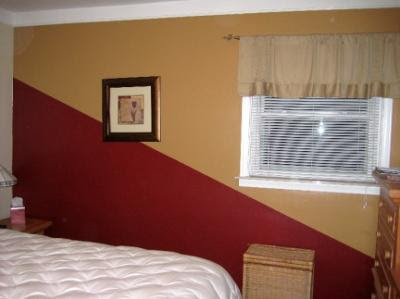 Painting Idea:Two-Color Diagonal Statement Wall