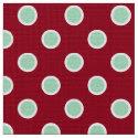 Mint Green Polka Dots on Maroon Christmas Pattern