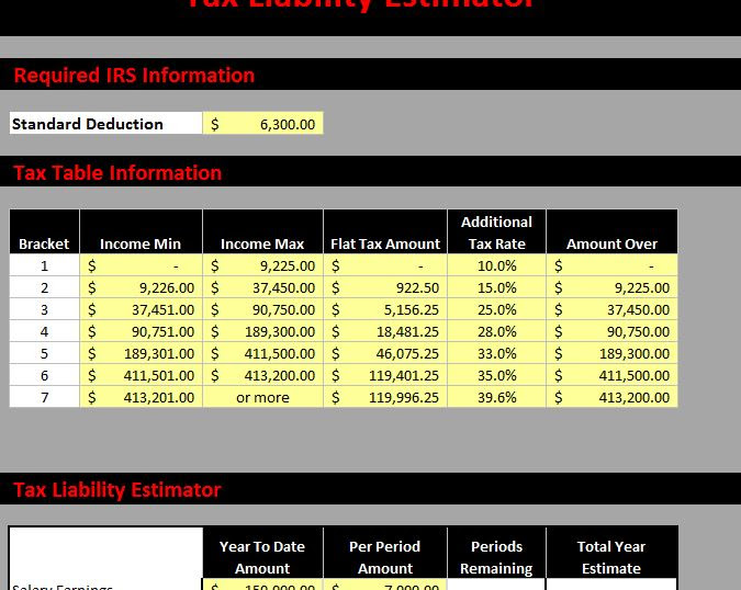 ME Tax Liability Estimator