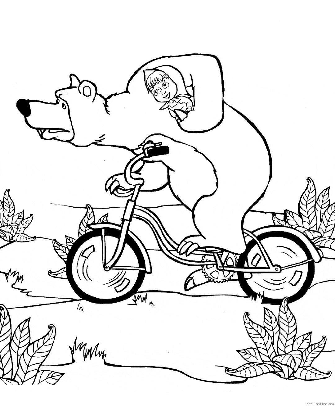 Dibujos Para Colorear Masha Y El Oso Dibujos Animados