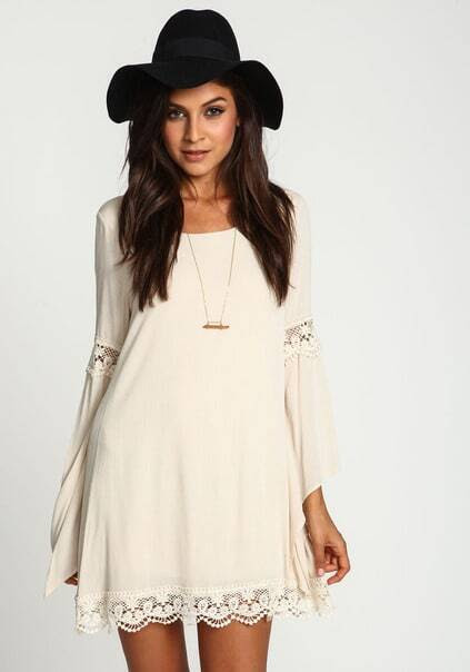 Lace Loose White Dress pictures