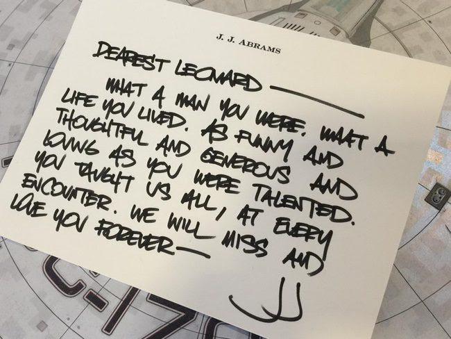Carta de J.J. Abrams a Leonard Nimoy
