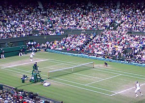 Wimbledon Men's final 2008, Federer serves for...
