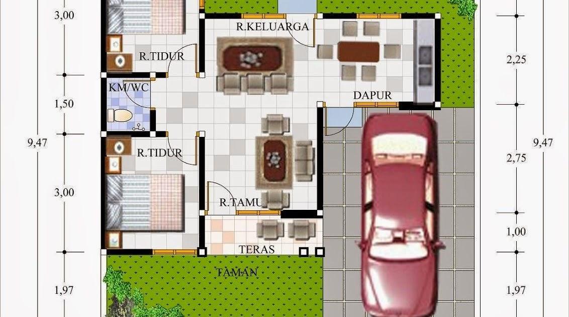 Desain Denah Rumah Type 45/84 | Denahose