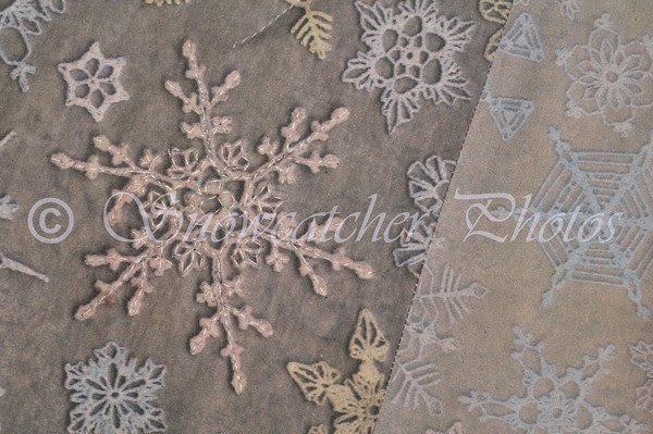 My Home-Printed Snowflake Fabric