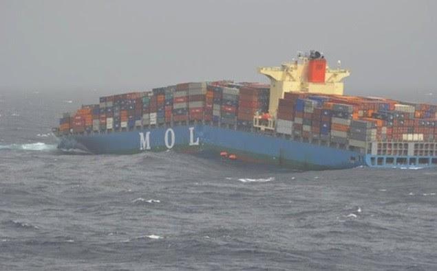 MOL Comfort as seen on June 17, 2013 in the Indian Ocean.