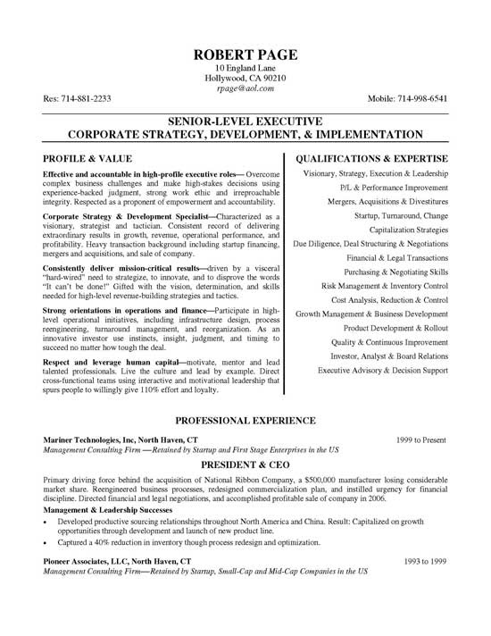 resume sample executive11a