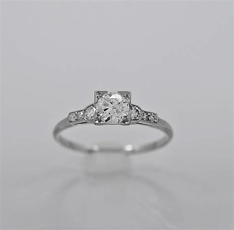 Antique Engagement Ring Bailey, Banks, & Biddle .51ct