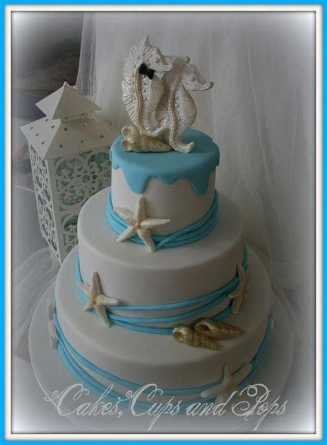 Seahorse Wedding Cake 100% edible.   My Cakes   Seahorse
