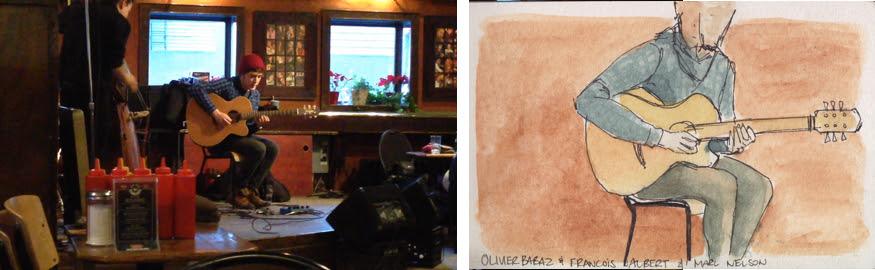 Urban sketchers Toronto, Urban Sketching The Rex Bar and Jazz Blues Restaurant live band