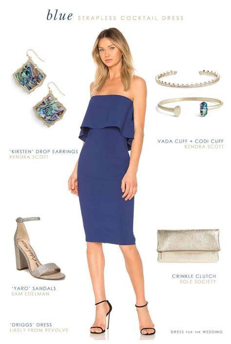 Blue Strapless Dress for a Wedding Guest   Wedding Guest