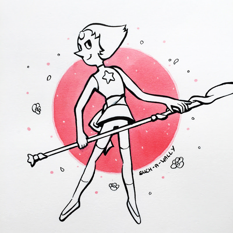 Inktober Day Three! Bird Mom Pearl from Steven Universe!