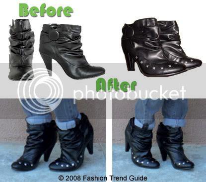 DIY studded boots