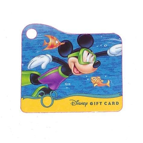 Disney Collectible Gift Card   Mickey Swimming   Wristband