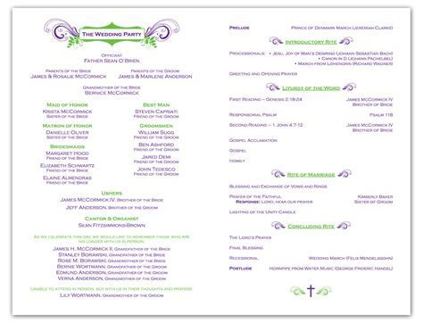 Free Wedding Ceremony Program Template   Krista Graphic