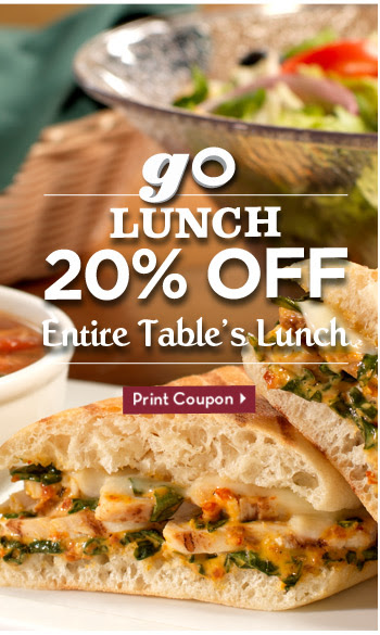 Go Lunch 20% Off Entire Table's Lunch