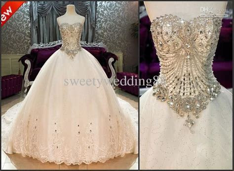 Bling Bling Crystals luxury Sweetheart Lace Applique