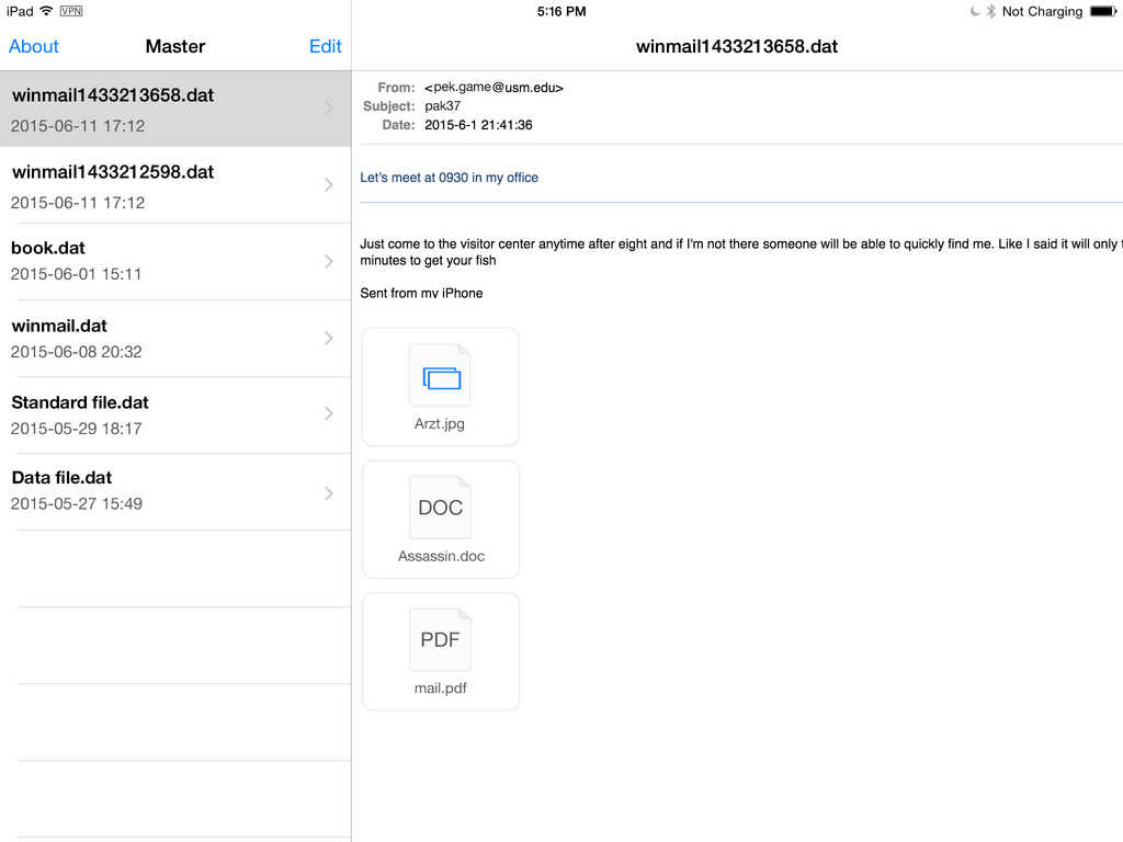 App Shopper: Winmail.dat Opener  Extract attachments from winmailoutlook dat files Productivity