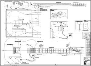 diy electric guitar plans sepala. Black Bedroom Furniture Sets. Home Design Ideas