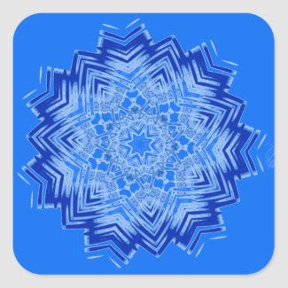 Blue Mandala Design on Stickers