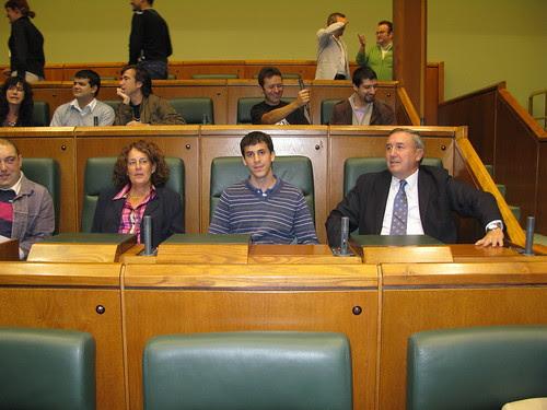 Bloggers en el Parlamento Vasco