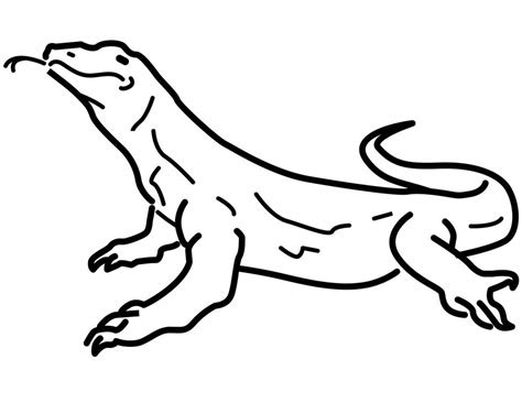 coloring pages monitor lizard printable  kids