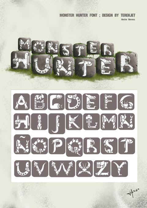 Monster_Hunter_font_design_by_terekjet