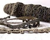 Vintage Edwardian Black Velvet and Gold Trim / 10 Yards - AloofNewfWhimsy