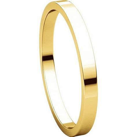 N012502 14K Yellow Gold 2mm Flat Wedding Ring
