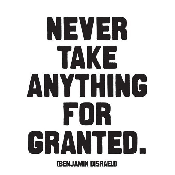 Quotes About Never Take Anything For Granted 31 Quotes