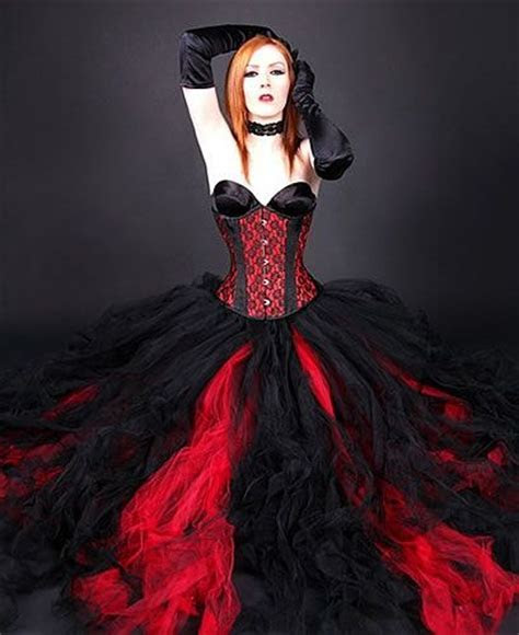 Red and Black Formal Tulle Skirt (I personally don't care