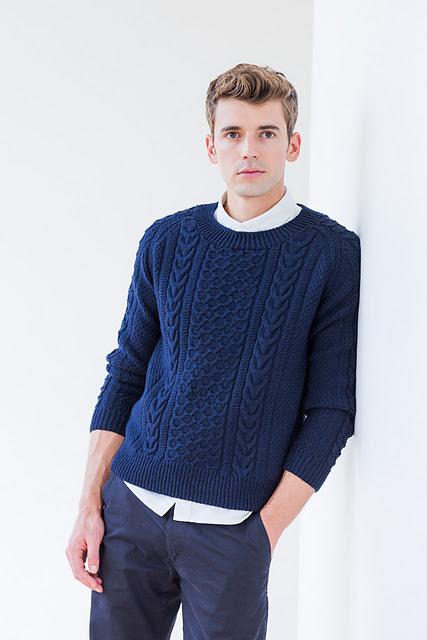 chandail pour homme tricoté Svenson par Jared Flood