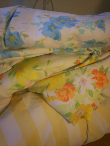 Some Vintage Sheets From Santa Fe GoodWill