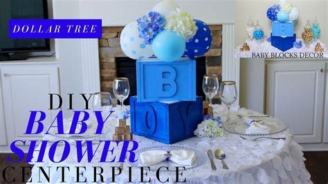Dollar Tree DIY Baby Shower Decor   DIY Boy Baby Shower
