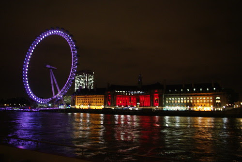 The London Eye and County Hall at night