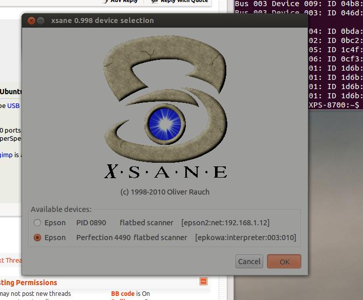 Ubuntu Problems Installing Usb Scanner Epson Perfection 4490 On
