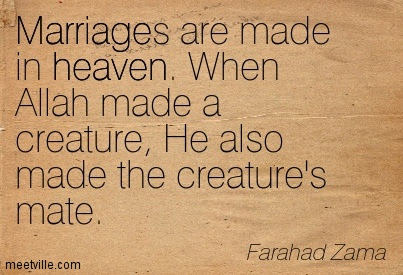 Quotes About Married In Heaven 19 Quotes