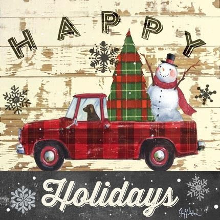 Vintage truck with christmas tree clipart - Clip Art Library